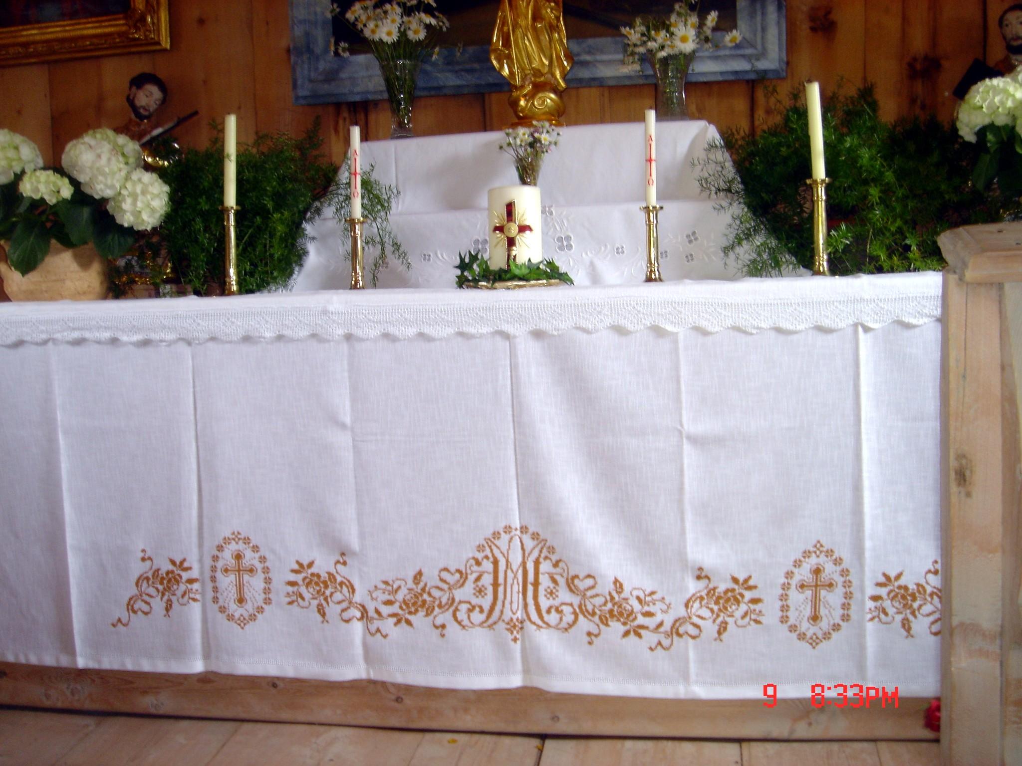 Altartuch - Marienmonogramm