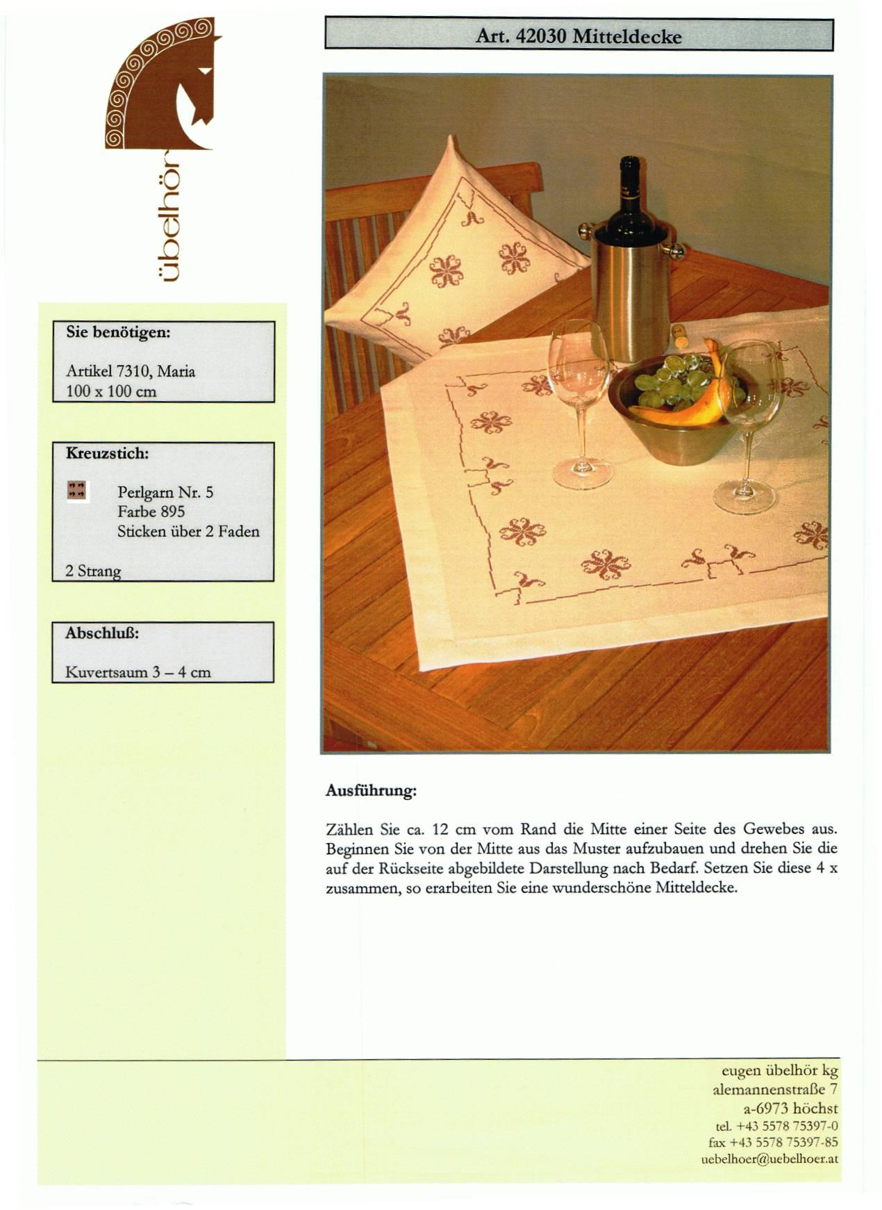 Angebot 03 - Mitteldecken mit Kissen