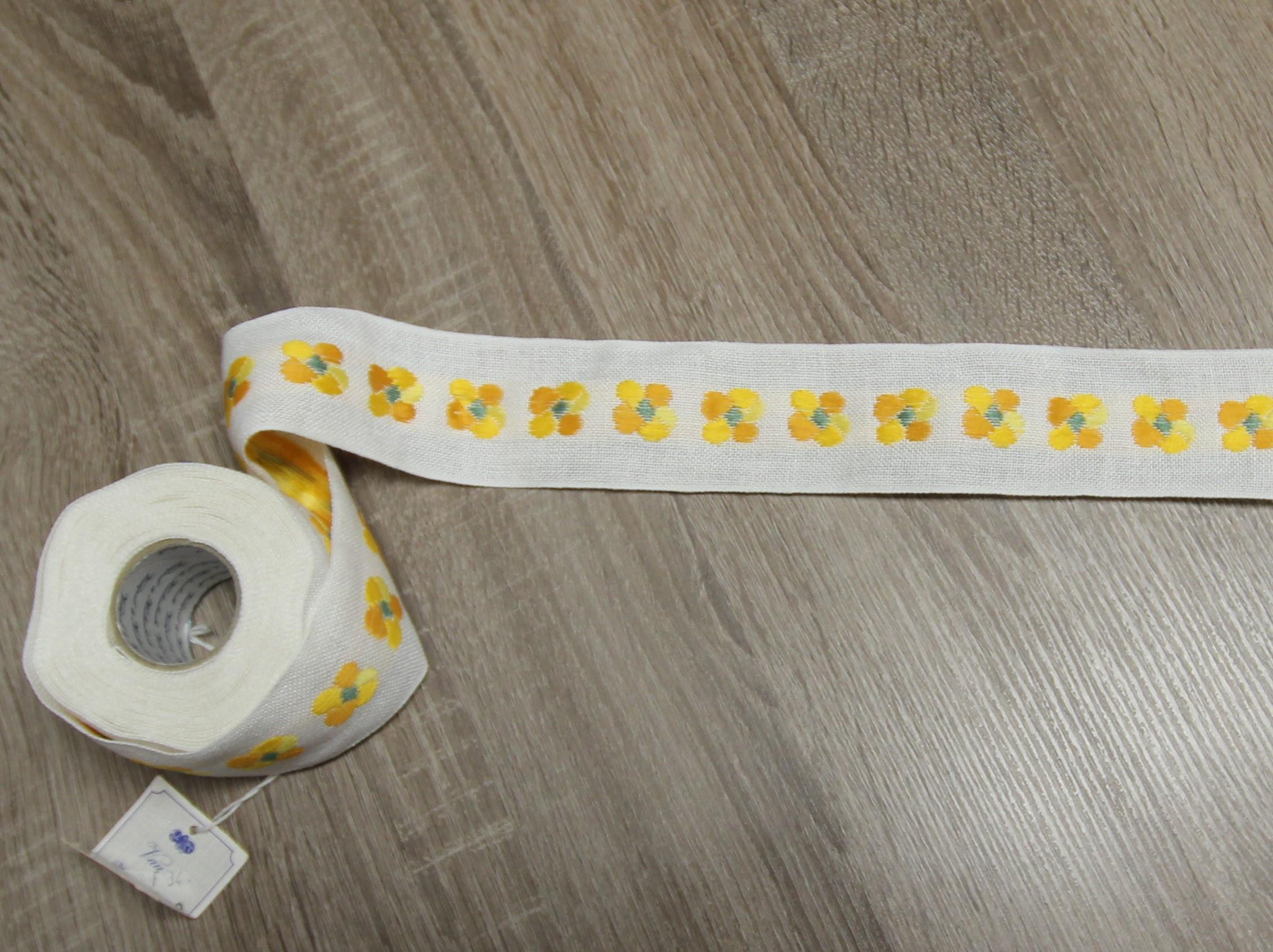 Leinenband - 2050/50 gelbe Blüte