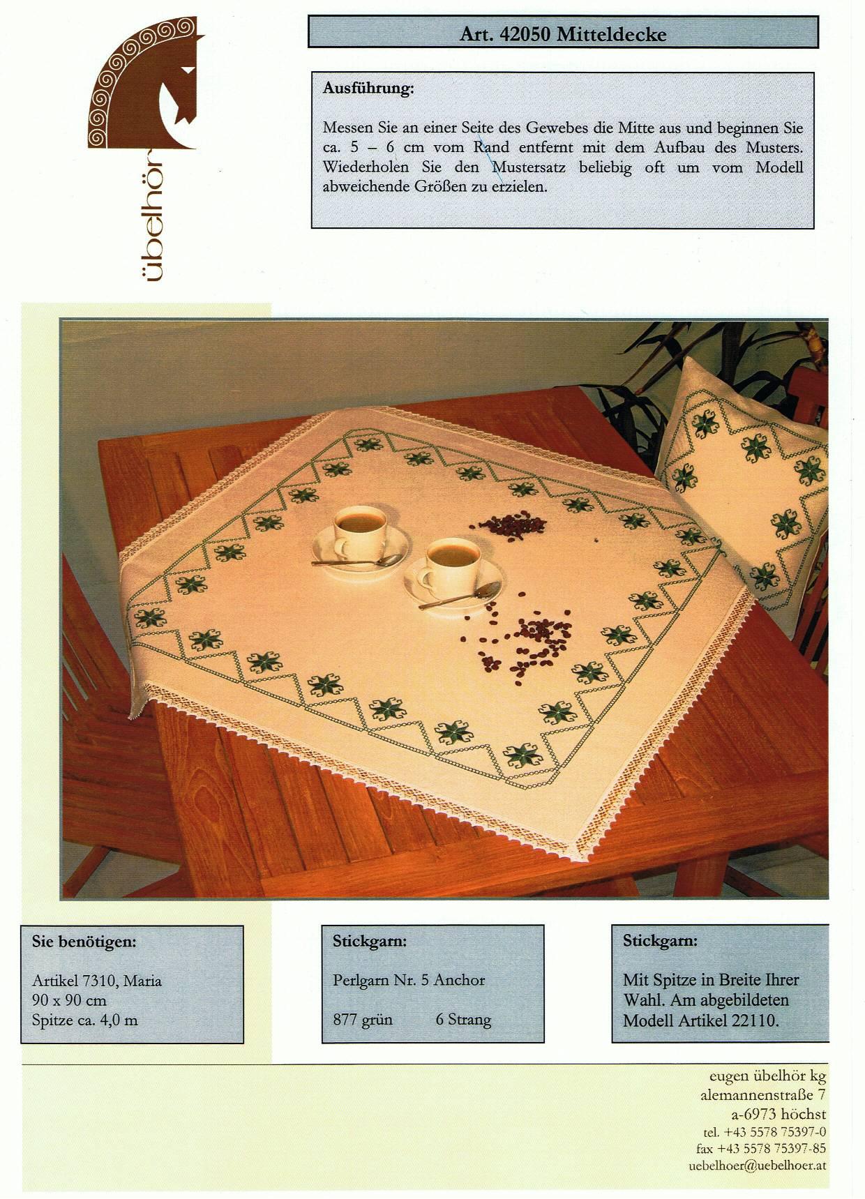 Angebot 02 - Mitteldecken mit Kissen