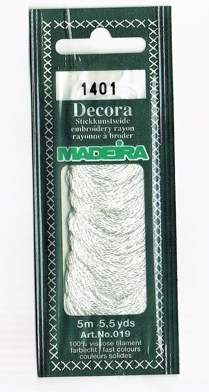 Madeira - Stickkunstseide - weiß