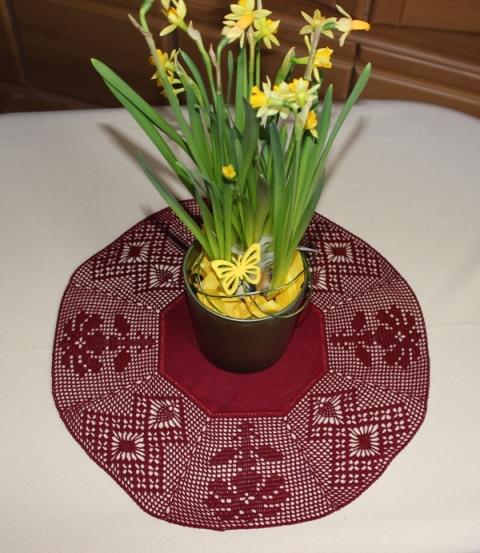 Achteck Motiv 222 - Blume Raute