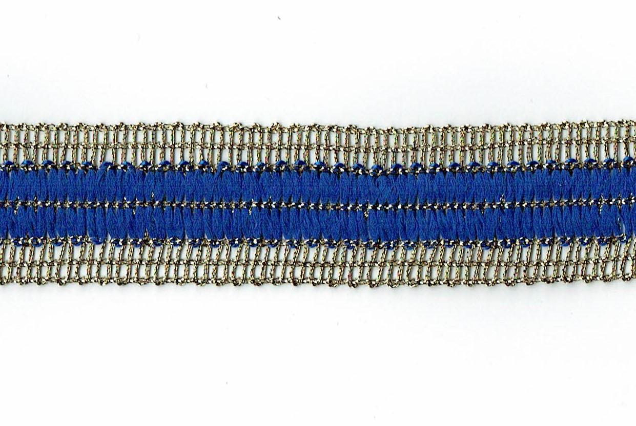 Brokatborte  5274 - blau