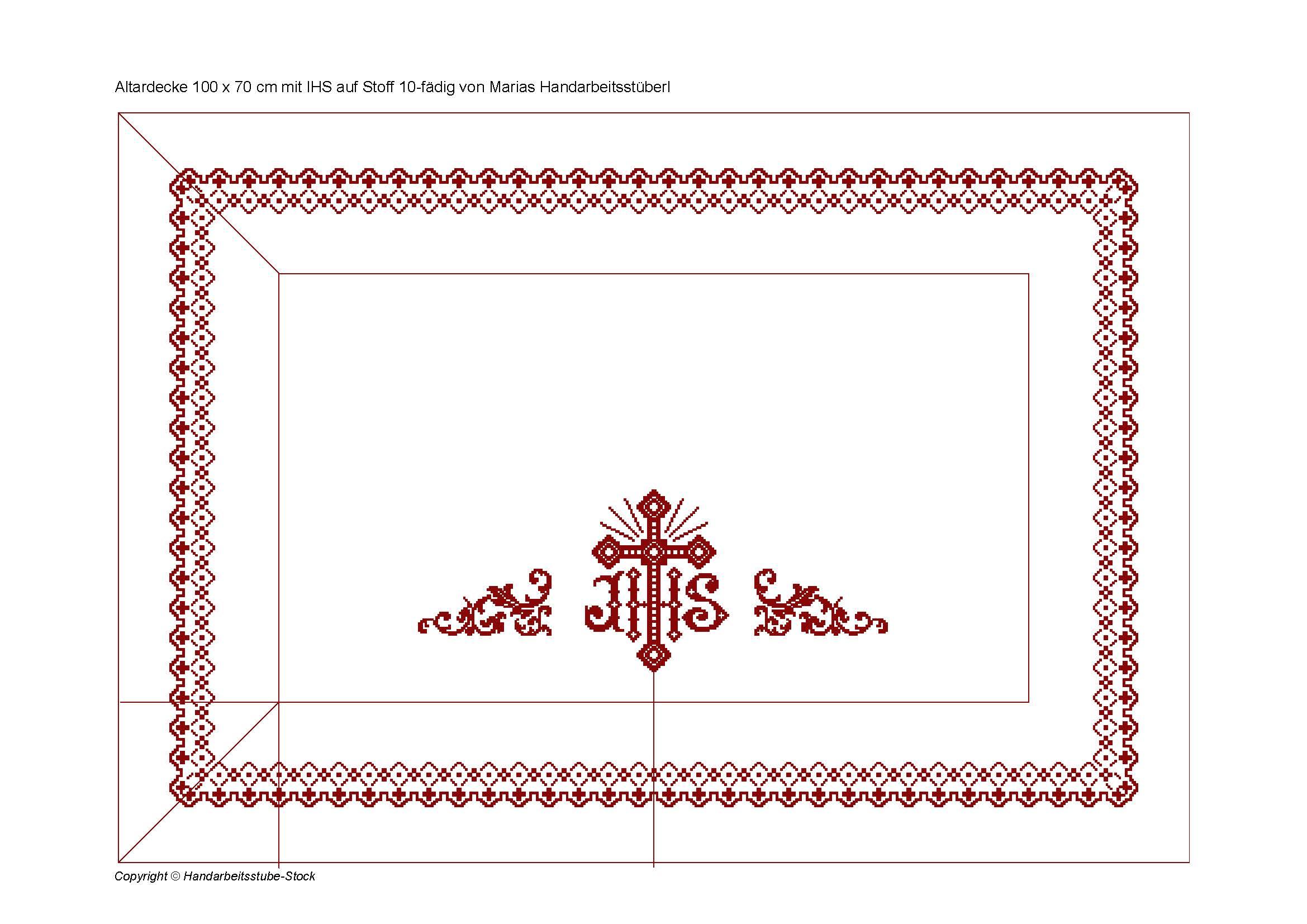Altartuch - Mit rundum Bordüre