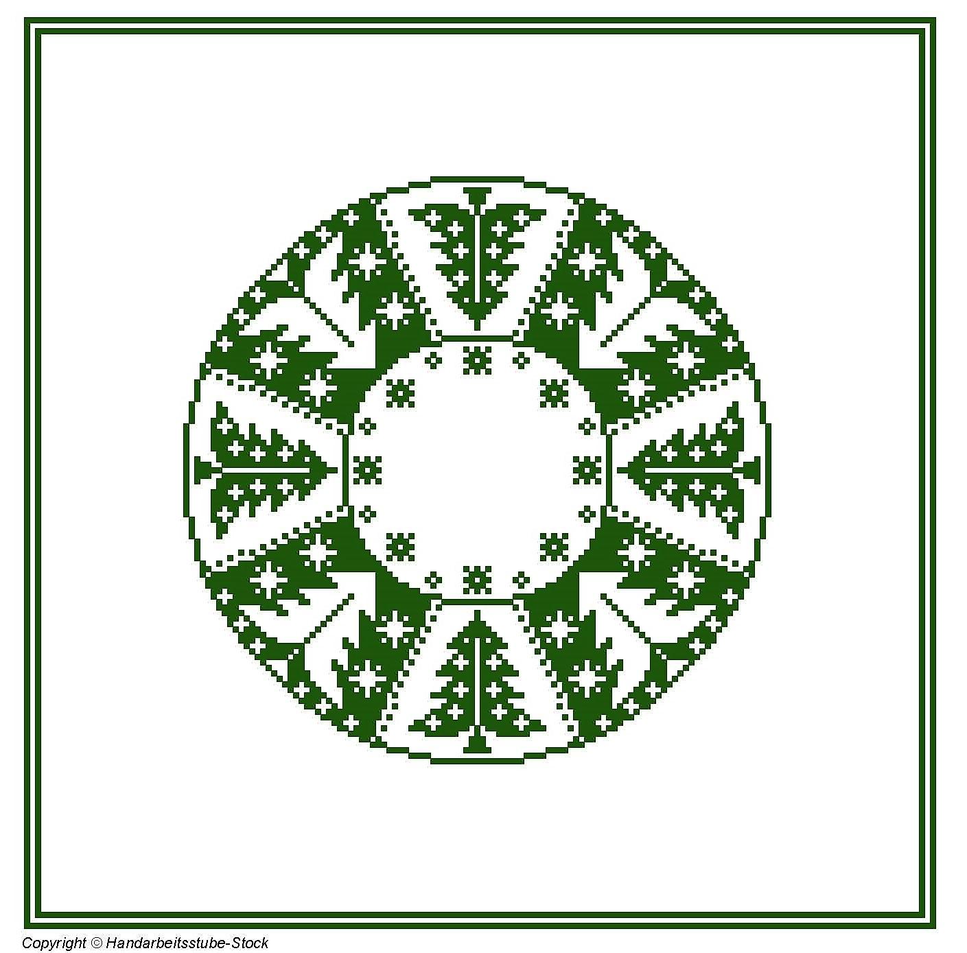Tischdecke - Tannenbaum rund