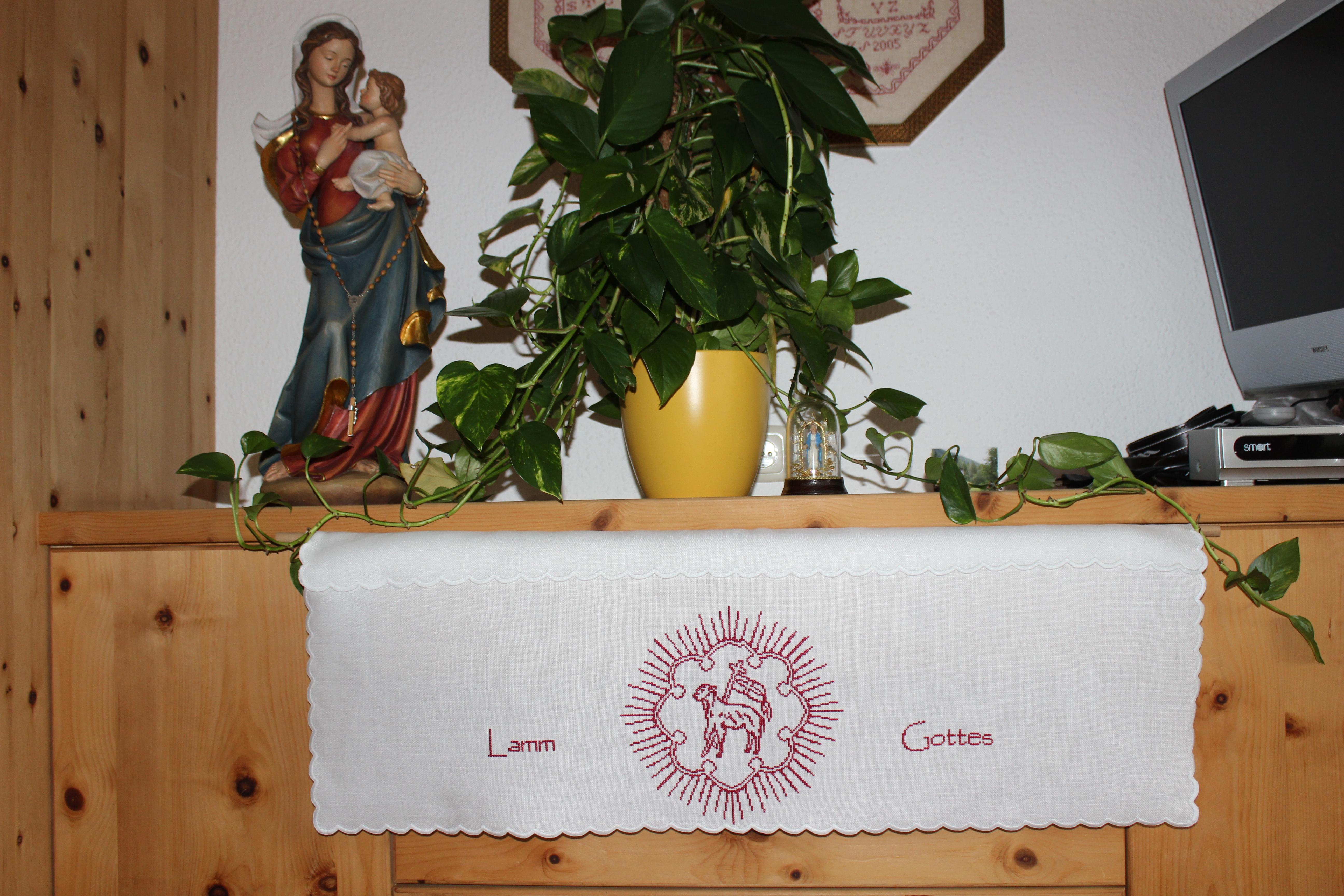 Altartuch - O´du Lamm Gottes 2