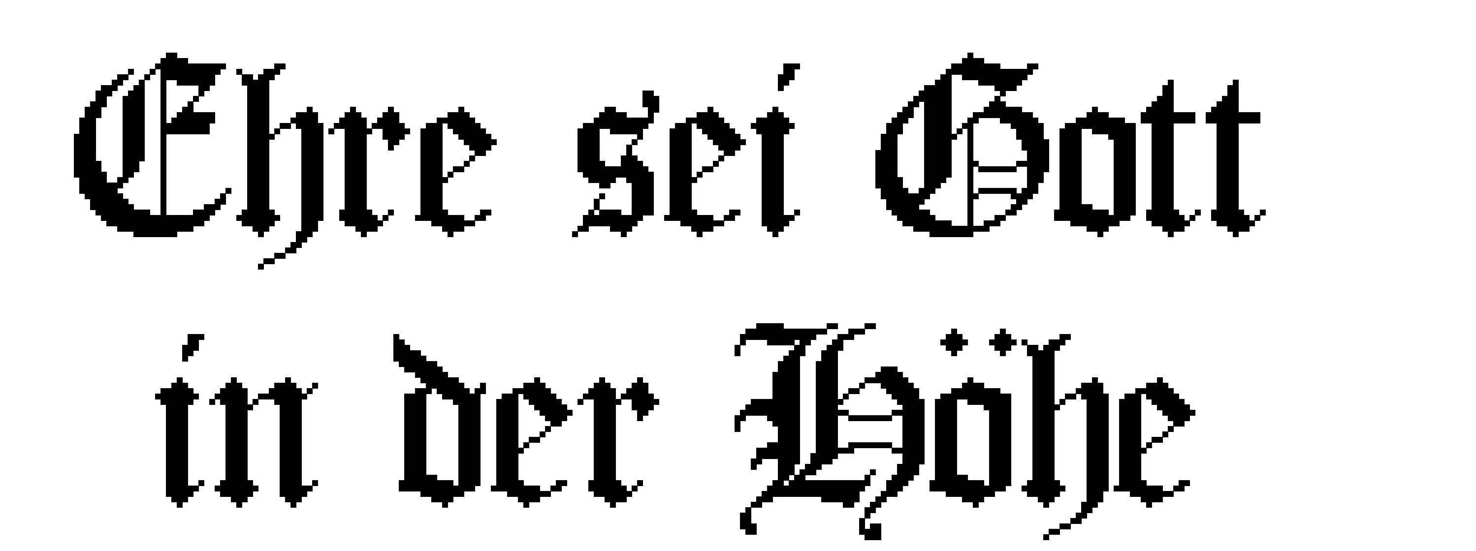 Schriftzug - Ehre sei Gott ...