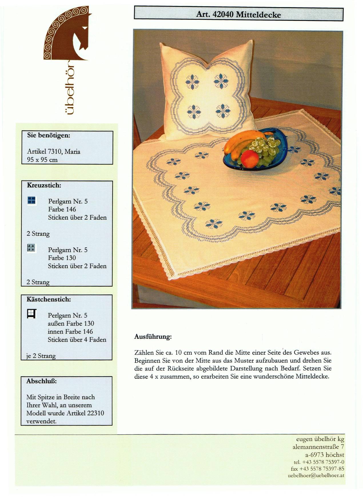 Angebot 01 - Mitteldecken mit Kissen