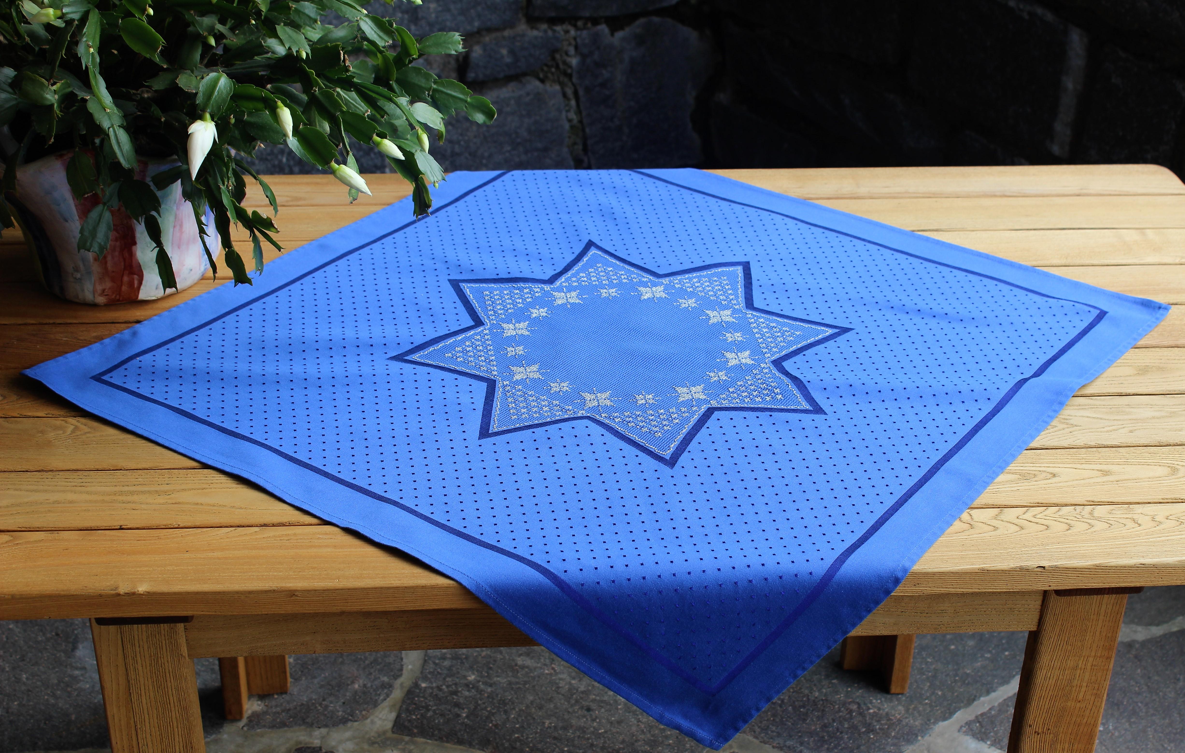 Mittelstern blau-silber