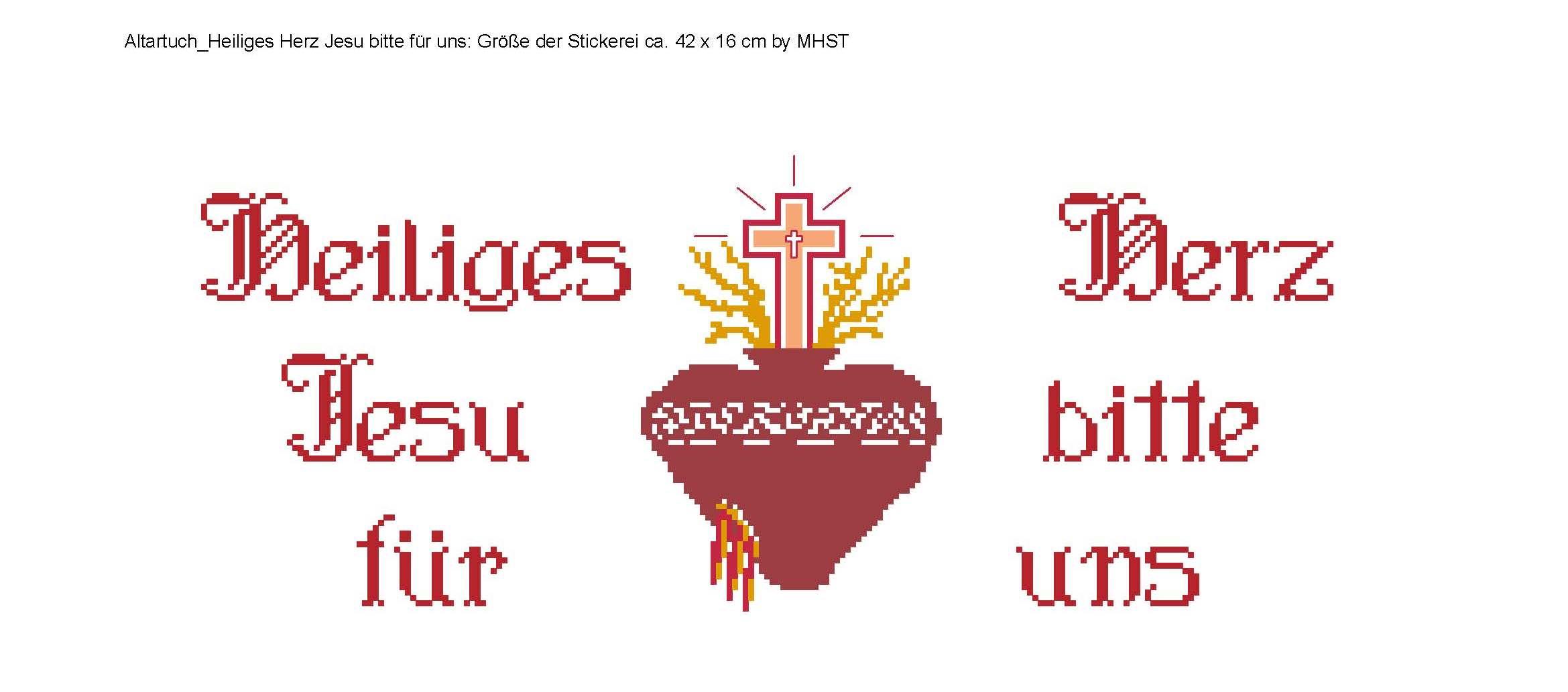 Altartuch - Heiliges Herz Jesu