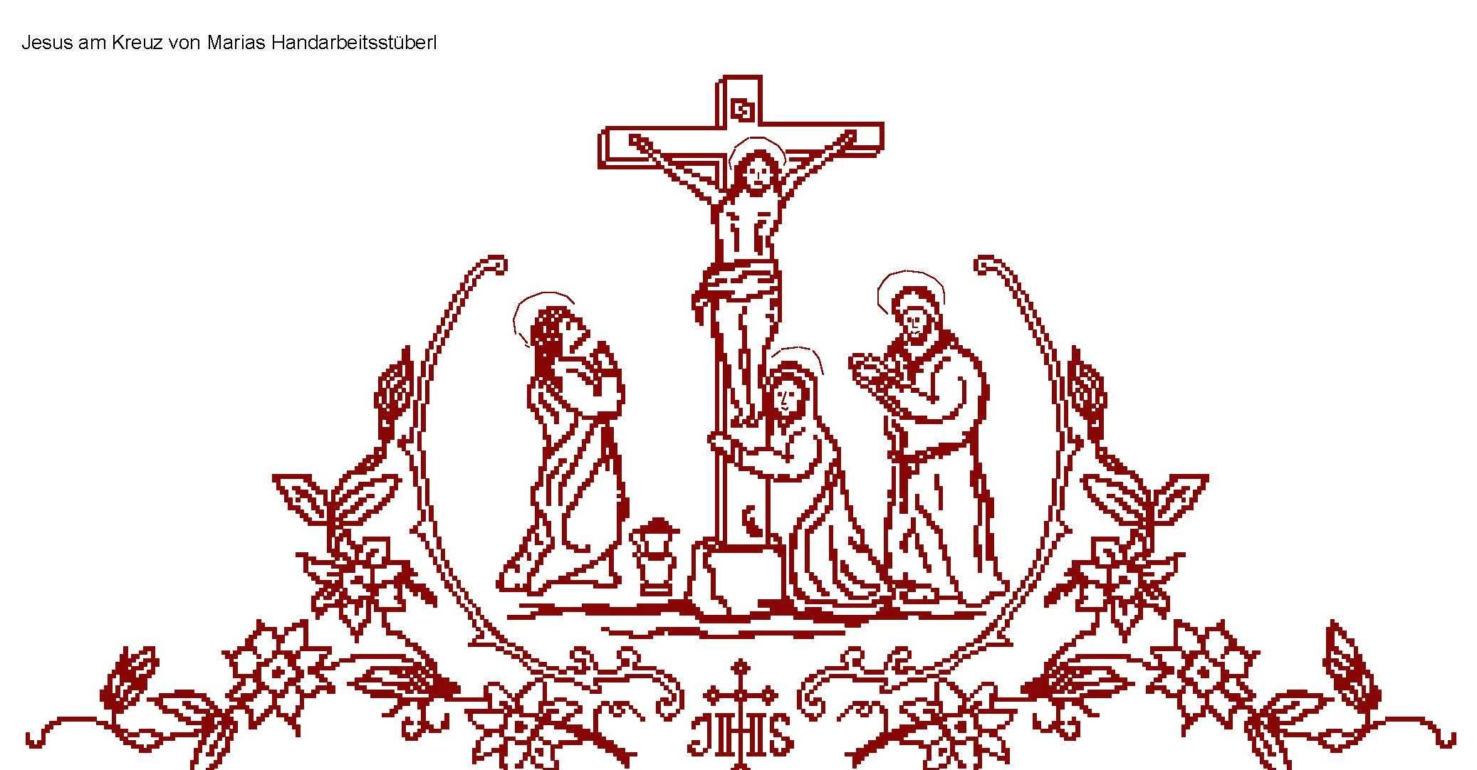 Altartuch - Jesus am Kreuz