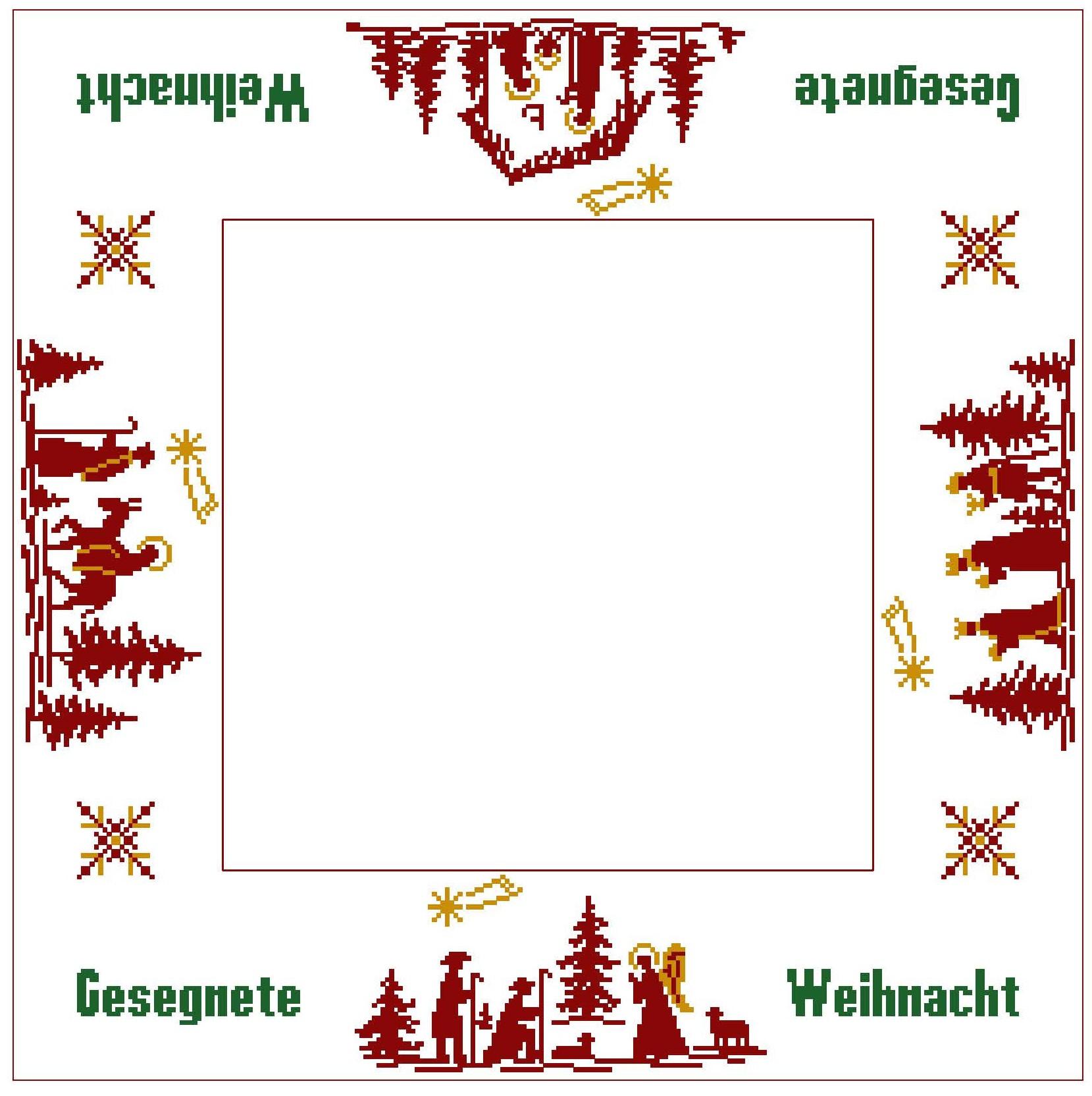 """Tischdecke Weihnachtsgeschichte mit Gesegnete Weihnacht """"Variante 3"""""""