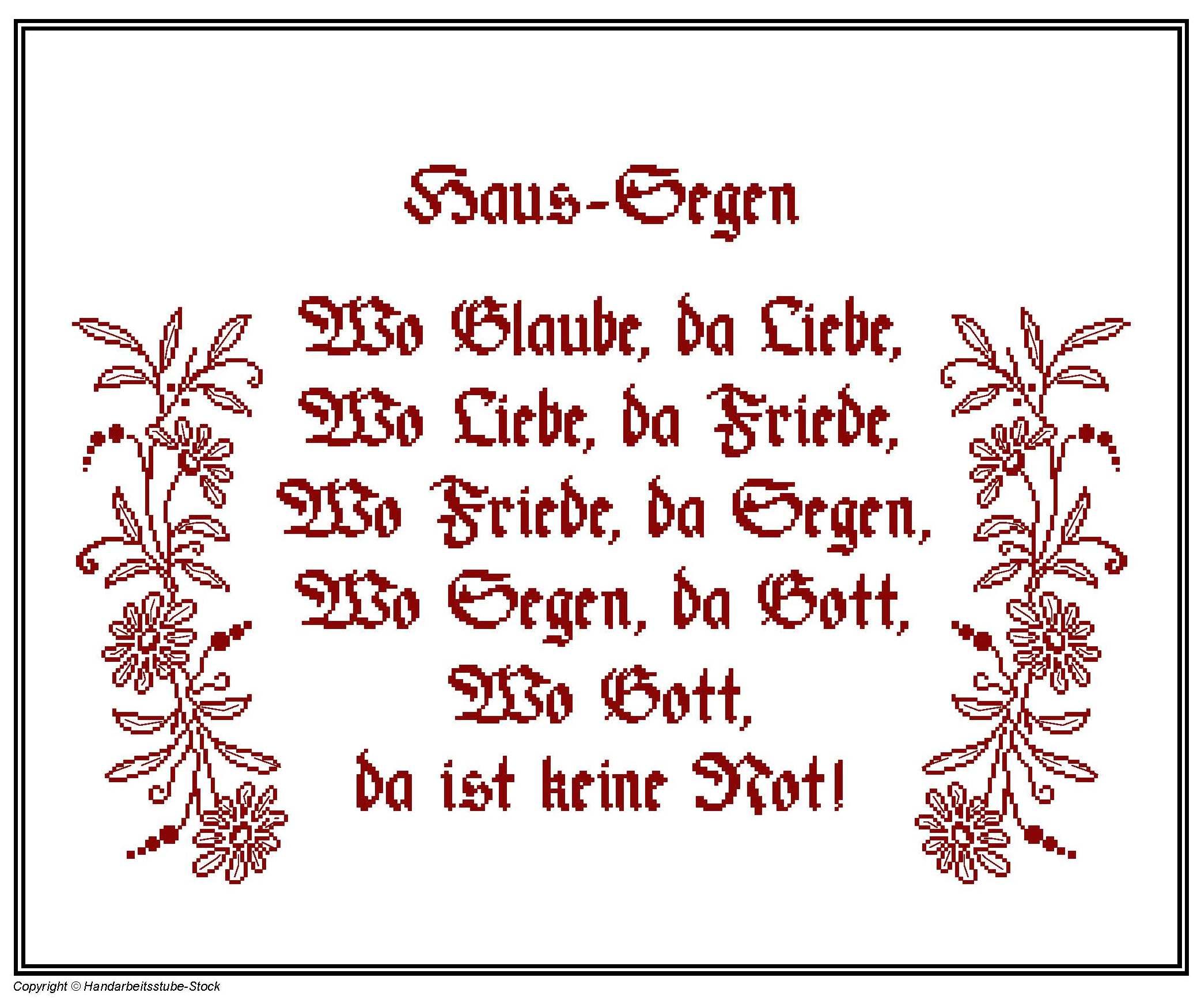 Haus Segen - Wo Glaube da Liebe in Calligraphic