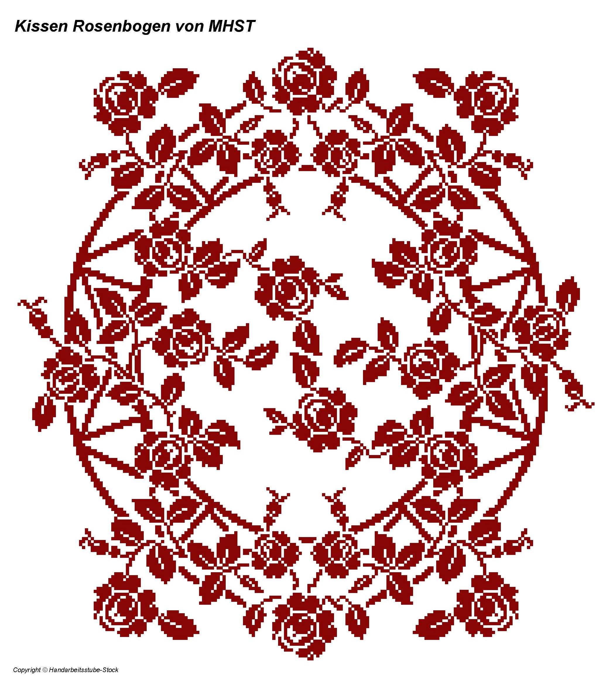 Kissen Rosenbogen